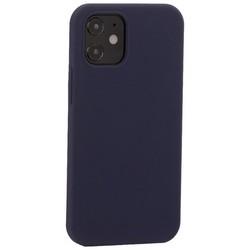 """Накладка силиконовая MItrifON для iPhone 12 mini (5.4"""") без логотипа Midnight Blue Темно-синий №8"""