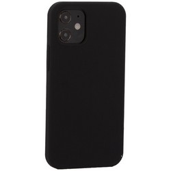 "Накладка силиконовая MItrifON для iPhone 12 mini (5.4"") без логотипа Black Черный №18"