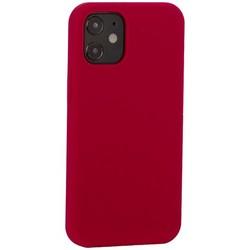 """Накладка силиконовая MItrifON для iPhone 12 mini (5.4"""") без логотипа Raspberry Малиновый №36"""