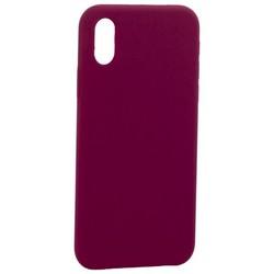 "Накладка силиконовая MItrifON для iPhone XS/ X (5.8"") без логотипа Maroon Бордовый №52"