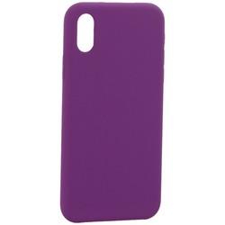 """Накладка силиконовая MItrifON для iPhone XS/ X (5.8"""") без логотипа Violet Фиолетовый №45"""