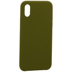 """Накладка силиконовая MItrifON для iPhone XS/ X (5.8"""") без логотипа Marsh Болотный №48"""