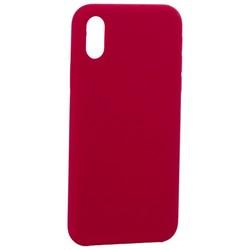 """Накладка силиконовая MItrifON для iPhone XS/ X (5.8"""") без логотипа Raspberry Малиновый №36"""