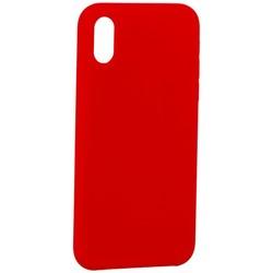 """Накладка силиконовая MItrifON для iPhone XS/ X (5.8"""") без логотипа Product red Красный №14"""