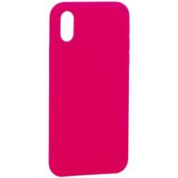"""Накладка силиконовая MItrifON для iPhone XS/ X (5.8"""") без логотипа Bright pink Ярко-розовый №47"""