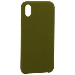 """Накладка силиконовая MItrifON для iPhone XR (6.1"""") без логотипа Marsh Болотный №48"""