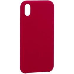 "Накладка силиконовая MItrifON для iPhone XR (6.1"") без логотипа Raspberry Малиновый №36"