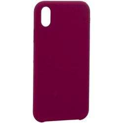 "Накладка силиконовая MItrifON для iPhone XR (6.1"") без логотипа Maroon Бордовый №52"