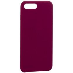 "Накладка силиконовая MItrifON для iPhone 8 Plus/ 7 Plus (5.5"") без логотипа Maroon Бордовый №52"