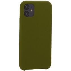 """Накладка силиконовая MItrifON для iPhone 11 (6.1"""") без логотипа Marsh Болотный №48"""