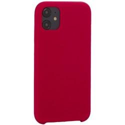 "Накладка силиконовая MItrifON для iPhone 11 (6.1"") без логотипа Raspberry Малиновый №36"