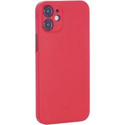 """Чехол-накладка пластиковая K-Doo Air Skin 0.3мм для Iphone 12 mini (5.4"""") Красная"""