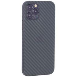 "Чехол-накладка карбоновая K-Doo Air Carbon 0.45мм для Iphone 12 Pro (6.1"") Зеленая"