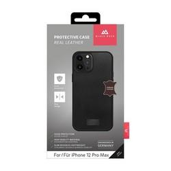 """Чехол-накладка Black Rock Robust Case Real Leather для iPhone 12 Pro Max (6.7"""") противоударный (800119) 1150RRLO2 Черный"""