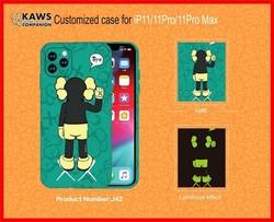 """Чехол-накладка силикон Luxo для iPhone XS Max (6.5"""") 0.8мм с флуоресцентным рисунком KAWS J42"""