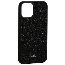 """Чехол-накладка силиконовая со стразами SWAROVSKI Crystalline для iPhone 12 mini (5.4"""") Черный №5"""