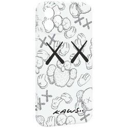 "Чехол-накладка силикон Luxo для iPhone 12 (6.1"") 0.8мм с флуоресцентным рисунком KAWS Белый KS-24"