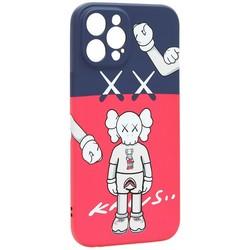 "Чехол-накладка силикон Luxo для iPhone 12 Pro Max (6.7"") 0.8мм с флуоресцентным рисунком KAWS J44"