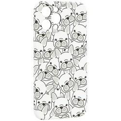 """Чехол-накладка силикон Luxo для iPhone 12 Pro Max (6.7"""") 0.8мм с флуоресцентным рисунком Бульдоги Белый"""