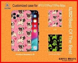 "Чехол-накладка силикон Luxo для iPhone 12 Pro Max (6.7"") 0.8мм с флуоресцентным рисунком Мопс L15"
