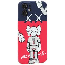 """Чехол-накладка силикон Luxo для iPhone 12 mini (5.4"""") 0.8мм с флуоресцентным рисунком KAWS J44"""