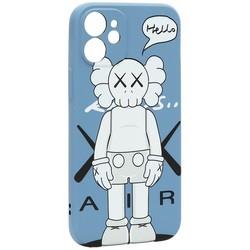 """Чехол-накладка силикон Luxo для iPhone 12 mini (5.4"""") 0.8мм с флуоресцентным рисунком KAWS J43"""