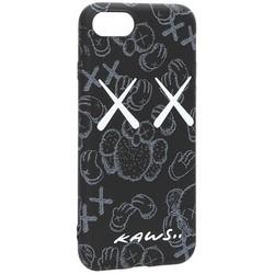 Чехол-накладка силикон Luxo для iPhone SE (2020г.)/ 8/ 7 (4.7) 0.8мм с флуоресцентным рисунком KAWS Черный KS-23