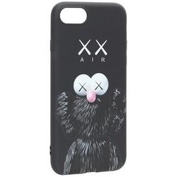 Чехол-накладка силикон Luxo для iPhone SE (2020г.)/ 8/ 7 (4.7) 0.8мм с флуоресцентным рисунком KAWS Черный KS-13