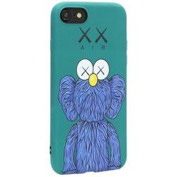 Чехол-накладка силикон Luxo для iPhone SE (2020г.)/ 8/ 7 (4.7) 0.8мм с флуоресцентным рисунком KAWS Зеленый KS-15