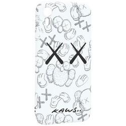 "Чехол-накладка силикон Luxo для iPhone XR (6.1"") 0.8мм с флуоресцентным рисунком KAWS Белый KS-24"