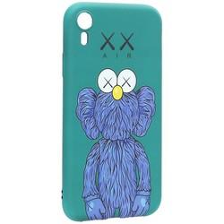 "Чехол-накладка силикон Luxo для iPhone XR (6.1"") 0.8мм с флуоресцентным рисунком KAWS Зеленый KS-15"