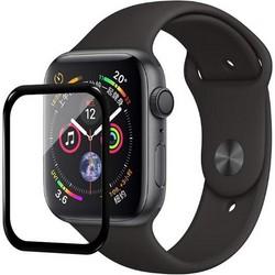 Стекло защитное Screen Protection Xreel для Apple Watch 6/ SE/ 5/ 4 series (44мм) черная рамка