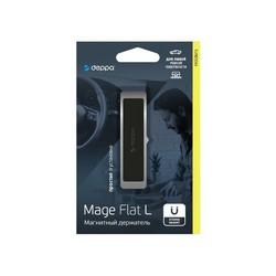 Автомобильный держатель магнитный Deppa Mage Flat L D-55184 (до 200 гр.) универсальный, для ровной поверхности Серый
