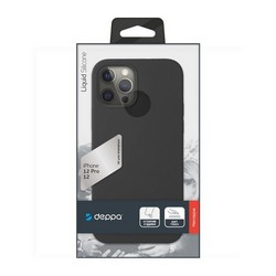 """Чехол-накладка силикон Deppa Liquid Silicone Case D-87707 для iPhone 12/ 12 Pro (6.1"""") 1.7мм Черный"""