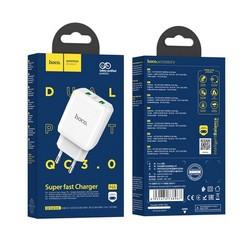 Адаптер питания Hoco N6 Charmer dual port QC3.0 charger (2USB: 5V max 3.0A) 18W Белый