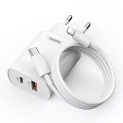 Адаптер питания Remax RP-U37 Jane series PD+QC 3.0 fast Charger (USB: 5V max 3.0A/ 18Вт) Белый