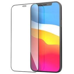 """Стекло защитное Hoco Nano 3D A12 узкие силиконовые рамки для iPhone 12/12 Pro (6.1"""") Black"""