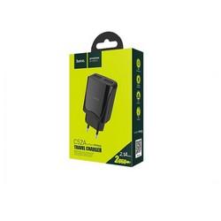 Адаптер питания Hoco C52A Authority power dual port charger (2USB: 5V max 2.1A) Черный