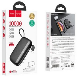 Аккумулятор внешний универсальный Hoco S29-10000 mAh Nimble Series Power Bank с кабелем Type-C (2USB: 5V/2.1A Max) Черный