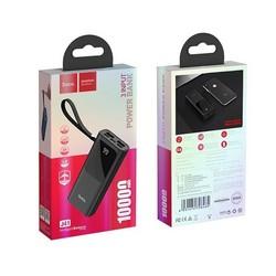 Аккумулятор внешний универсальный Hoco J41-10000 mAh Treasure Power Bank с LED индикатором (2USB: 5V-2.0A) Черный