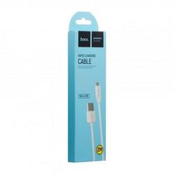 USB дата-кабель Hoco X1 Rapid MicroUSB (2.0 м) Белый