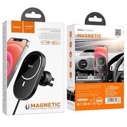 Автомобильное беспроводное Qi зарядное устройство Hoco CA90 Powerful (15W) Черный
