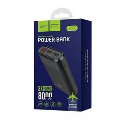 Аккумулятор внешний универсальный Hoco B35B-8000 mAh Entourage mobile Power bank (2USB: 5V-2.1A) Черный