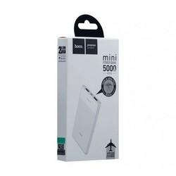 Аккумулятор внешний универсальный Hoco B35D-5000 mAh Entourage mobile Power bank (2USB: 5V-1.0A) White Белый