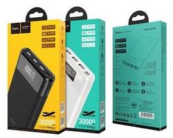 Аккумулятор внешний универсальный Hoco B35E-30000 mAh Entourage mobile Power bank (2USB: 5V-2.0A) White Белый
