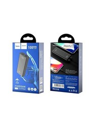 Аккумулятор внешний универсальный Hoco J45 10000 mAh Elegant Shell power mobile power bank (2USB:5V-2.0A Max) Черный