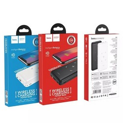 Аккумулятор внешний универсальный & беспроводное зарядное Hoco J50 10000 mAh Surf power mobile power bank (2USB:5V-2.0A Max) Черный