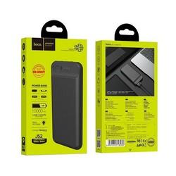 Аккумулятор внешний универсальный Hoco J52 10000 mAh New mobile power bank (2USB:5V-2.0A Max) Черный