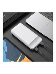 Аккумулятор внешний универсальный Hoco J52A 20000 mAh New mobile power bank (2USB:5V-2.0A Max) Белый