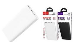 Аккумулятор внешний универсальный Hoco J55 10000 mAh Neoteric mobile power bank (2USB:5V-2.0A Max) Белый